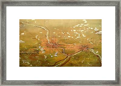 Antique Map Of Minneapolis And St Paul 1904 Framed Print