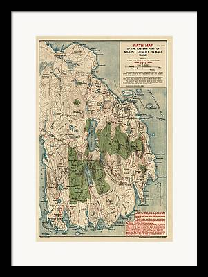 Maine Drawings Framed Prints