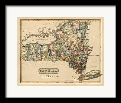New York City Drawings Framed Prints