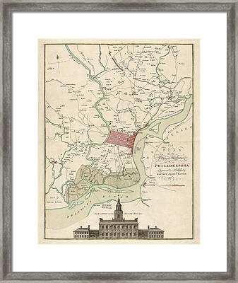 Philadelphia Map Framed Art Prints  Fine Art America
