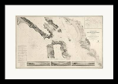 San Francisco Bay Drawings Framed Prints