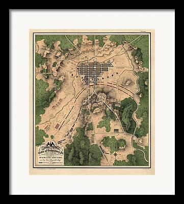National Park Drawings Framed Prints