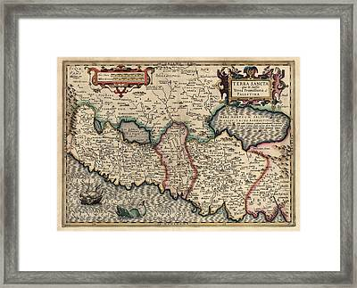 Antique Map Of The Holy Land By Guillaume Delisle - 1782 Framed Print by Blue Monocle