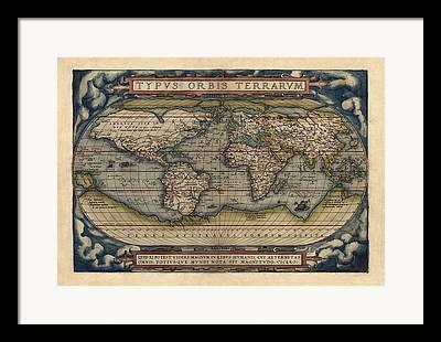Ortelius Framed Prints