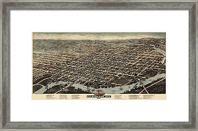 Antique Map Of Wilmington Delaware By H. H. Bailey And Co. - 1874 Framed Print