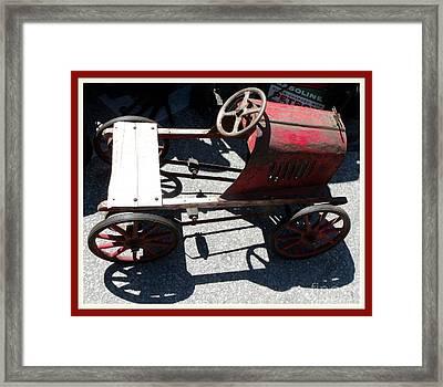 Antique  Metal Peddle Car  Framed Print by Gail Matthews