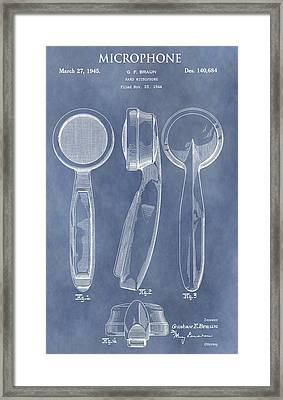 Antique Microphone Patent Framed Print