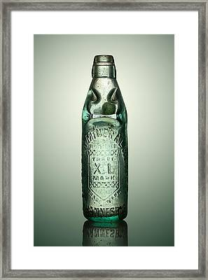 Antique Mineral Glass Bottle Framed Print by Johan Swanepoel