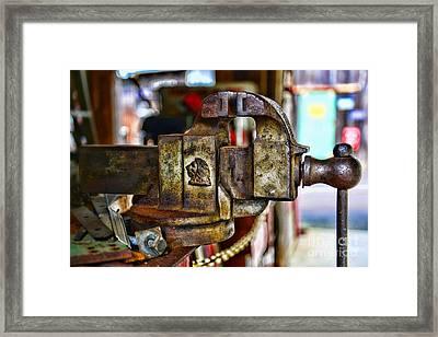 Antique Monarch Cast Iron Bench Vise  Framed Print