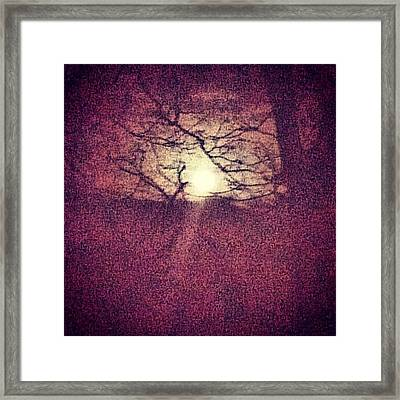 Antique Moon Abstract Framed Print