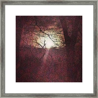 Antique Moon Framed Print
