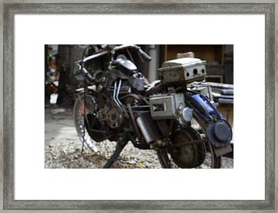 Antique Motorcycle  Framed Print by Brett Roberts