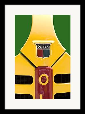 Oliver Tractor Framed Prints