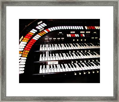 Framed Print featuring the photograph Antique Organ by Marcia Socolik