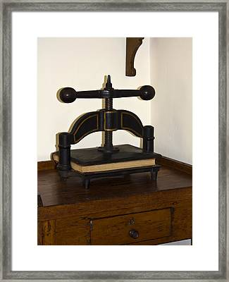 Antique Paper Copier Framed Print by Sally Weigand
