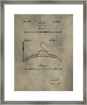 Antique Patent Art Hanger Framed Print