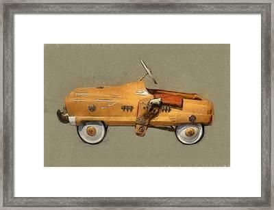 Antique Pedal Car L Framed Print