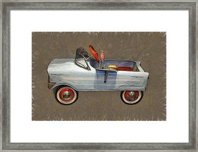 Antique Pedal Car Lv Framed Print by Michelle Calkins
