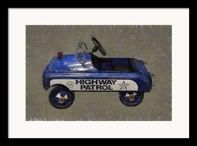 Police Cruiser Digital Art Framed Prints