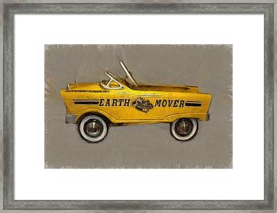 Antique Pedal Car Vl Framed Print