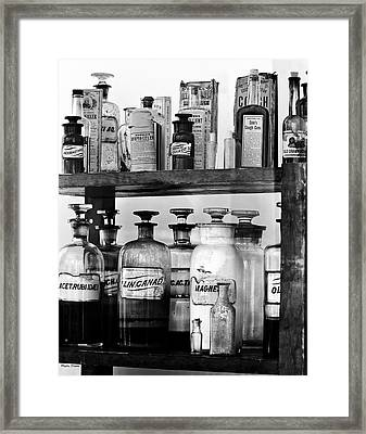 Antique Pharmacy Framed Print