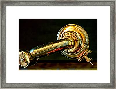 Antique Phonograph Tonearm Framed Print by Stephen Anderson