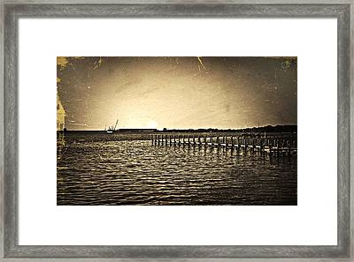 Antique Photo Of Pier  Framed Print