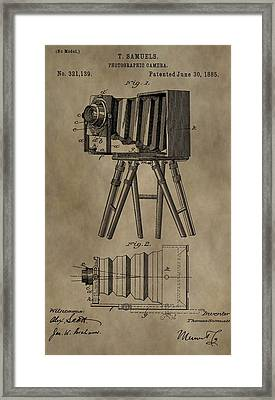 Antique Photographic Camera Patent Framed Print
