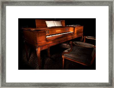 Antique Piano Paxton House Framed Print