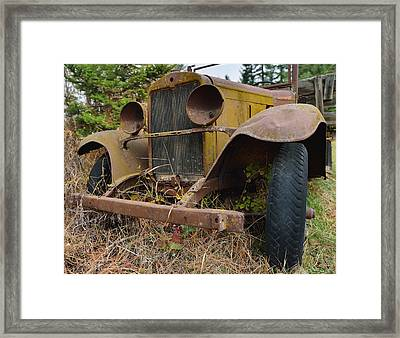 Antique Pickup Truck Framed Print