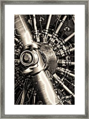 Antique Plane Engine Framed Print by Olivier Le Queinec