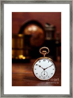 Antique Pocket Watch Framed Print by Olivier Le Queinec