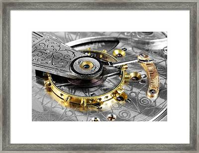 Antique Pocketwatch Balance Wheel Framed Print