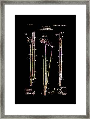Antique Pruning Knife Patent 1907 Framed Print by Mountain Dreams