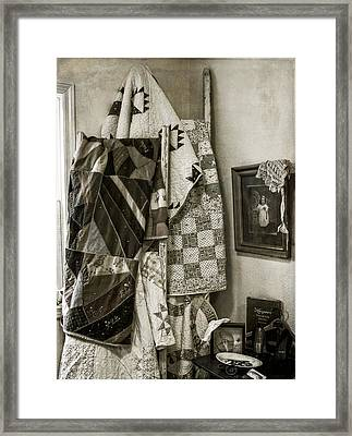 Antique Quilts Framed Print