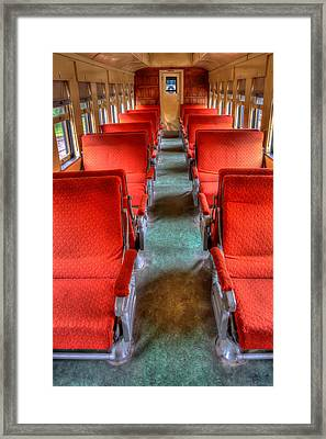 Antique Railroad Coach Car Framed Print