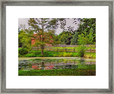 Antique Reflections Framed Print by Omaste Witkowski