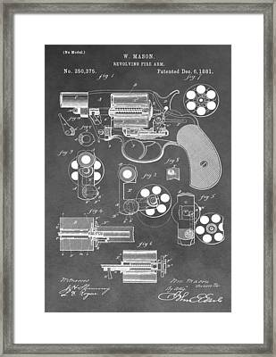 Antique Revolver Patent Framed Print by Dan Sproul