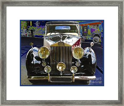 Framed Print featuring the digital art Antique Rolls Royce by Victoria Harrington
