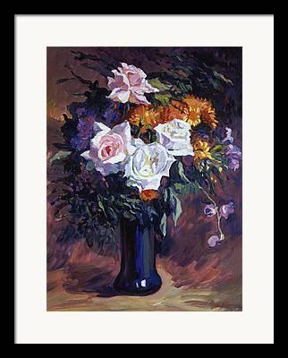 Blue Glass Vase Framed Prints