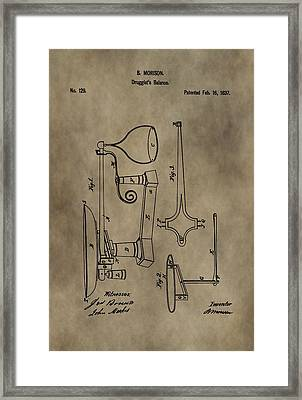 Antique Scale Patent Framed Print