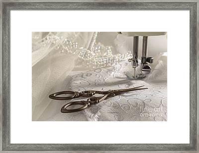 Antique Scissors Framed Print by Amanda Elwell