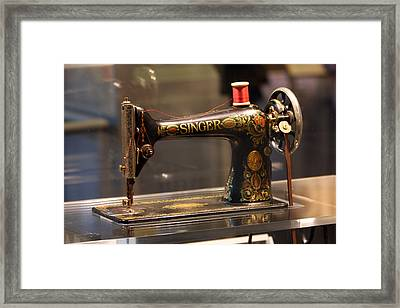 Antique Sewing Machine  Framed Print