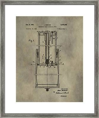 Antique Shock Absorber Patent Framed Print