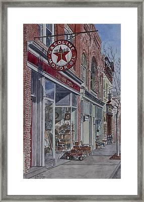Antique Shop Beacon New York Framed Print