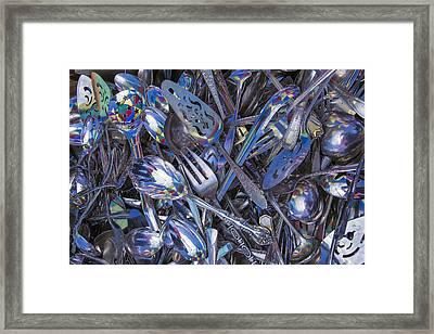 Antique Silverware Framed Print by Garry Gay
