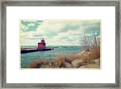 Antique Snapshot Series - Big Red Framed Print by Michelle Calkins