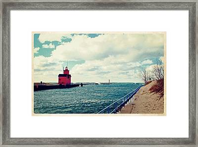 Antique Snapshot Series - Holland Channel Framed Print by Michelle Calkins