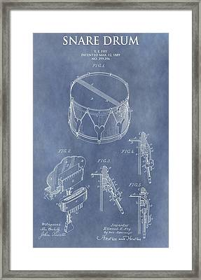 Antique Snare Drum Patent Framed Print by Dan Sproul