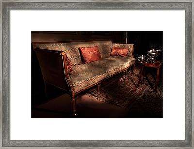 Antique Sofa And Tea Set Paxton House Framed Print